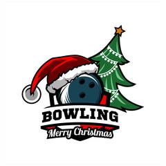 Bowling Cristmas Tree Logo