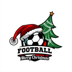 Football Cristmas Tree Logo