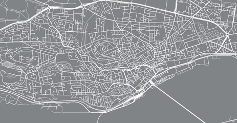 Urban vector city map of Dundee, Scotland