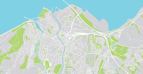 Urban vector city map of Inverness, Scotland
