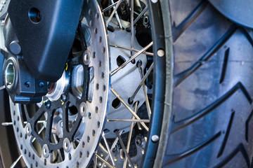 Wheel of the sports motor-bike