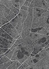 City map Athens, monochrome detailed plan, vector illustration