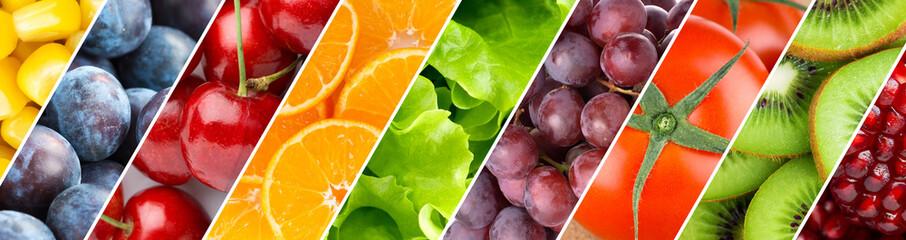 Foto op Plexiglas Keuken Background of mixed fruits and vegetables