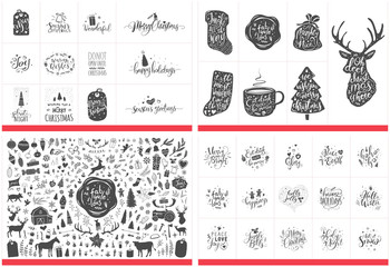 Christmas Mega Pack with Ornaments, Greetings and Quotes