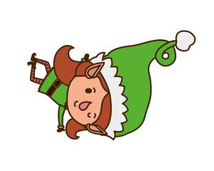 elf woman walking avatar character