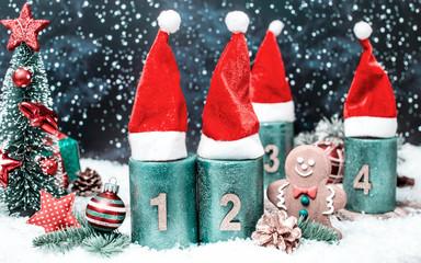 2.Advent Weihnachtsmütze Weihnachtsbaum Advent