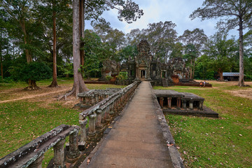 Buddhist temple in Angkor thom complex, Angkor Wat Archaeological Park in Siem Reap, Cambodia UNESCO World Heritage Site