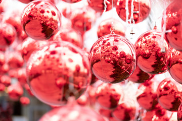 Christmas red balls decoration