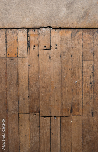 A Vintage Rustic Antique Wooden Block Flooring In An Old