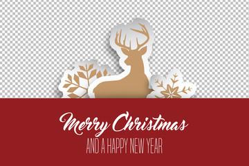 Geschenkkarte - weihnachtlich - auf transparentem Hintergrund