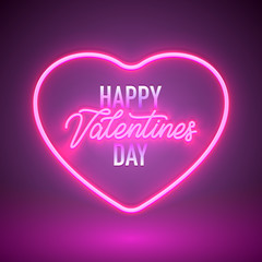 neon vday sign