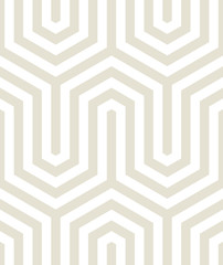 Vector seamless texture. Modern geometric background. Lattice with fragments of hexagons.