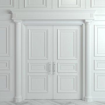 White double classic door