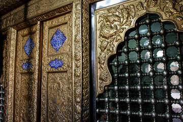 Isfahan, Iran - May 11, 2017:Element wall inside the mosque