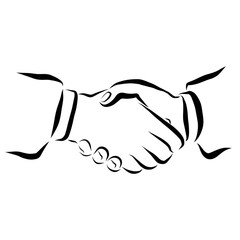 hands of people greeting each other or having signed a contract