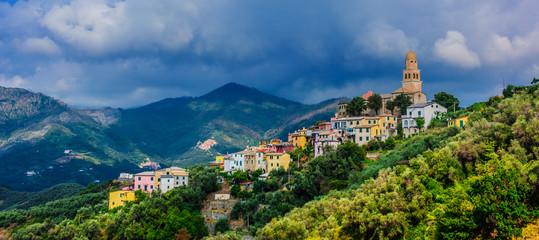 View of Legnaro in the Province of La Spezia, Liguria, Italy