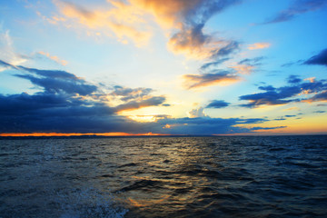 Beautiful sunset Samana Dominican Republic