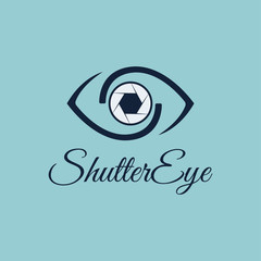 Vector Shutter Eye Photography logo design template