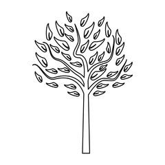 Tree nature symbol black and white