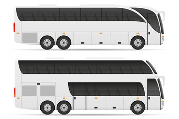 tour city bus stock vector illustration