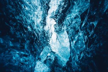Beautiful crystal blue ice
