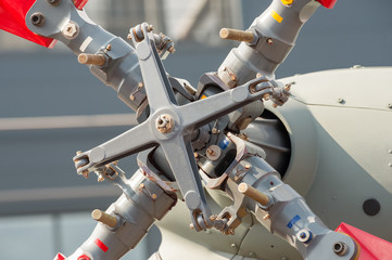 Fototapete - close-up of helicopter horizontal stabiliser tail rotor assembly
