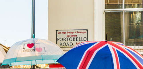 A view at Portobello Road Market