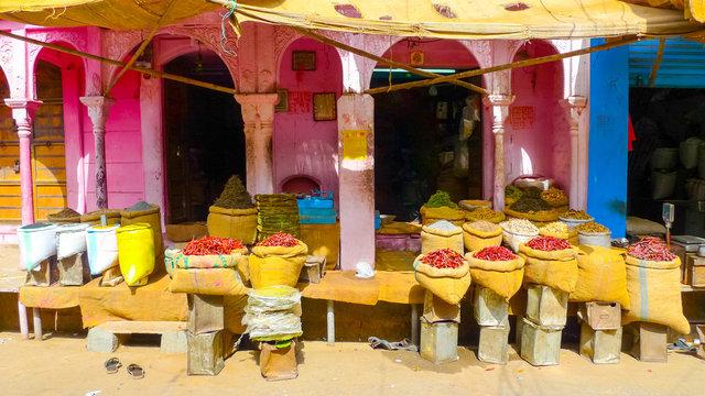 Kiosk on a street in Bikaner