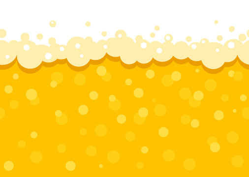 Seamless beer background with foam and bubbles. Pattern wallpaper beer oktoberfest . flat Vector illustration.
