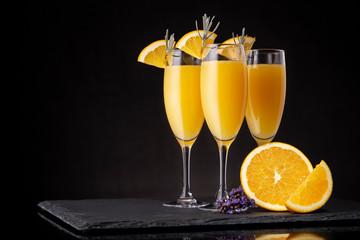 Printed kitchen splashbacks Cocktail Three refreshing mimosa cocktails