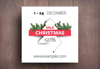 Christmas Sale Advertisement Layout