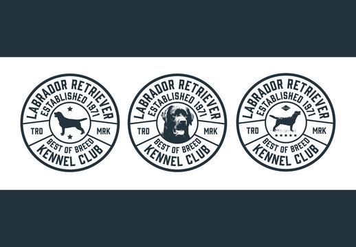 Dog Show Emblem Layout