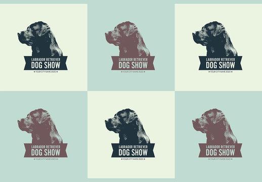 Dog Show Badge Layout