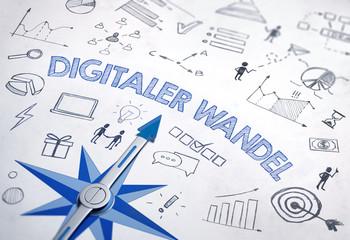 Digitaler Wandel - Kompass und Icons