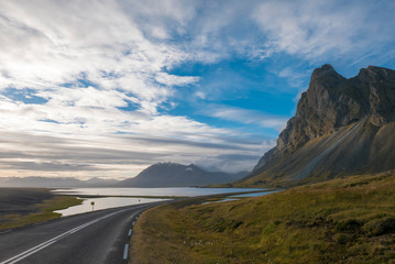 Amazing landscape of the East Fjords in Iceland