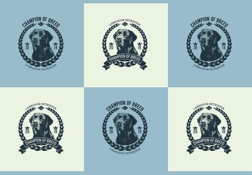 Winner of Dog Show Badge Layout