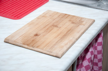 Chopping board on kitchen's table