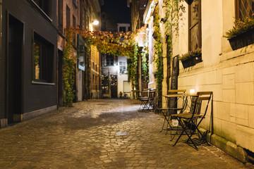 Outdoor restaurant in Antwerp in Belgium