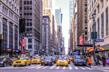 Foto auf Leinwand New York TAXI New York City