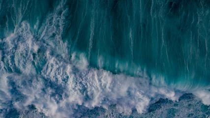 Aerial Waves Crashing on MAui