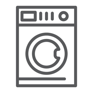 Car washing line icon, laundry and clean, washing machine sign, vector graphics, a linear pattern on a white background.