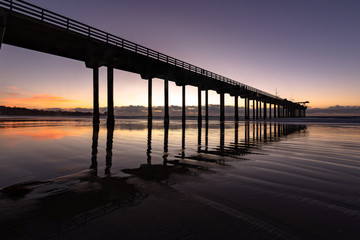 Scripps Pier sunset during blue hour