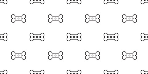 dog bone seamless pattern vector tile repeat background scarf wallpaper isolated illustration