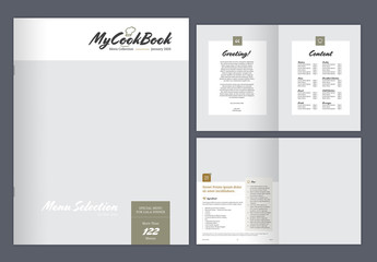 Cookbook Layout with Earth Tone Accents