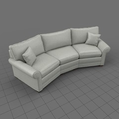 Traditional corner sofa