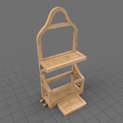 Wooden shower caddy