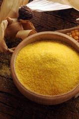 Zea mays Polenta ft81081772 Cucina friulana Italian cuisine Corn flour Farina di mais Harina de maiz Pipine di scus