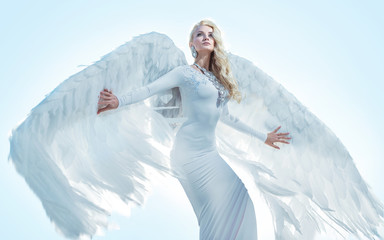 Foto op Plexiglas Artist KB Portrait of an elegant, blond angel