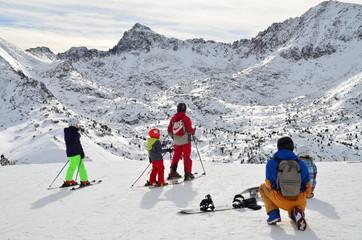 Looking to the Pyrenees from Grandvalira Ski Resort - Les Escaldes, Andorra