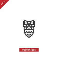 Pine cone vector icon